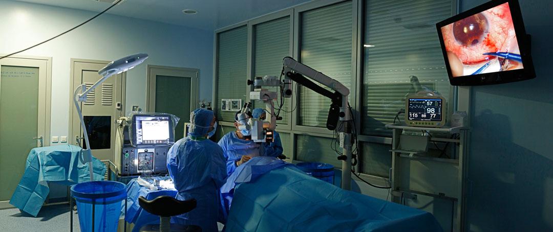Αίθουσα οφθαλμοχειρουργικών επεμβάσεων